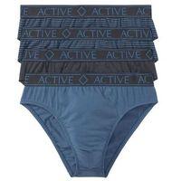 Slipy maxi (4 pary) bonprix nocny niebieski + niebieski dżins z nadrkiem