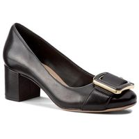 Półbuty - orabella fame 261275414 black leather marki Clarks