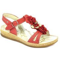 Sandały damskie 669 - czerwony marki Helios