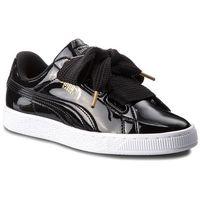 Puma Sneakersy - basket heart patent wn's 363073 01 puma black/puma black