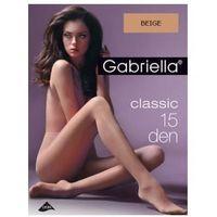 Gabriella Rajstopy classic 15 den, rozmiar 2, kolor beige