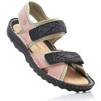 Sandały trekkingowe ze skóry bonprix jasnoróżowy, kolor różowy