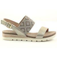 Sandały Na Koturnie Złote Caprice 28604, 1 rozmiar