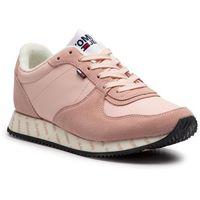 Tommy jeans Sneakersy - casual sneaker en0en00394 silver peony 658