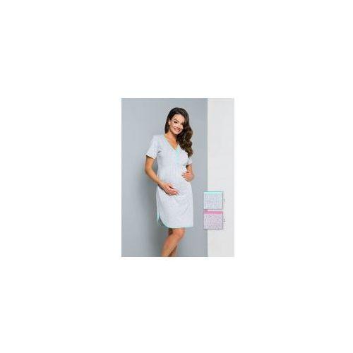 Koszula nocna ciążowa i do karmienia Regina 169 - RÓŻ