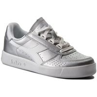 Sneakersy DIADORA - B.Elite L Metallic Wn 501.173209 01 90001 Silver Metalized, kolor szary