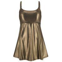Sukienka kąpielowa bonprix złoty, poliamid
