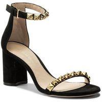 Sandały STUART WEITZMAN - 75Rosemarie XL17424 Black Luxe Suede, kolor czarny