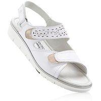 Wygodne sandały skórzane biały, Bonprix, 36-42
