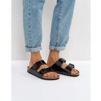 arizona birko black patent flat sandals - black marki Birkenstock