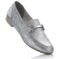 Buty wsuwane Marco Tozzi bonprix srebrny metaliczny, kolor szary
