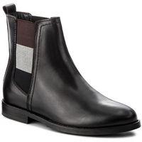 Sztyblety TOMMY HILFIGER - DENIM Genny 16A2 FW0FW01695 Black 990, kolor czarny