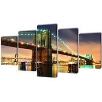 zestaw obrazów canvas 100 x 50 cm most brookliński marki Vidaxl