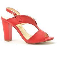 Sandały but0360-005 czerwony marki Monnari