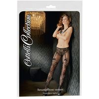 Cottelli collection | stockings Rajstopy z siateczki i koronki s-l