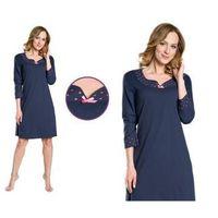Koszula nocna damia: granat marki Italian fashion