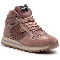 Wrangler Sneakersy - beyond star mid wl182642 antique rose 610