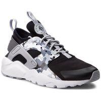 Nike Buty - air huarache run ultra prt gs aq9038 001 black/wolf grey/dark grey
