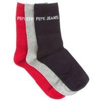Pepe Jeans Marl Set of 3 pairs of socks Niebieski Czerwony Szary 37-42