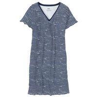 Koszula nocna ciemnoniebiesko-biały w paski, Bonprix, S-XXXXL