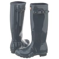 Kalosze Hunter Womens Original Tall Gloss Graphite WFT1000RGL (HU17-d), kolor szary