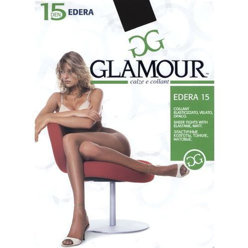 """Rajstopy Glamour Edera 15 den """"24h ROZMIAR: 1/2-S, KOLOR: szary/antracit, Glamour, kolor szary"""