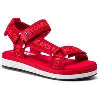 Sandały - mesh webbing sporty sandal en0en00568 tango red 611, Tommy jeans, 36-38