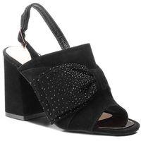 Sandały ALMA EN PENA - V18279 Suede Black, kolor czarny