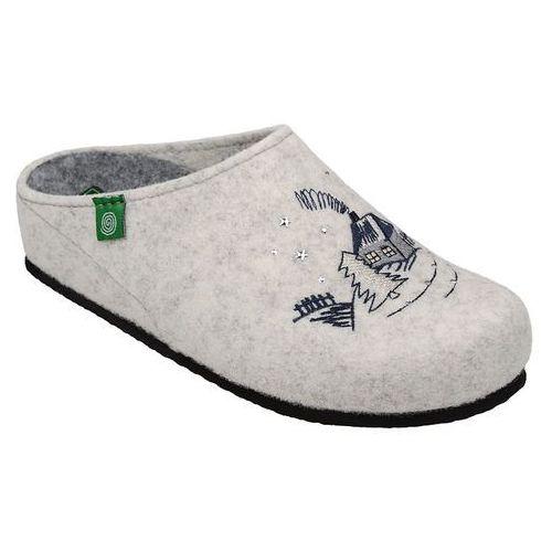 Kapcie Pantofle domowe Ciapy Dr Brinkmann 320482-81 Ecru - OffWhite ||Ecru ||Beżowy (4053519824328)