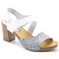 7310 białe błękit - hiszpańskie buty marki Mariettas