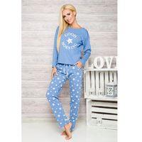Piżama Taro Nadia 1190 dł/r S-XL N XL, niebieski melange, Taro, 5902192051837