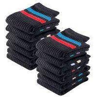 Skarpetki sportowe go in (12 par) czarny w paski, Bonprix