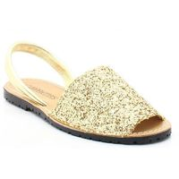 MARIETTAS 550 ZŁOTY - Hiszpańskie skórzane sandały minorki - Złoty, kolor żółty