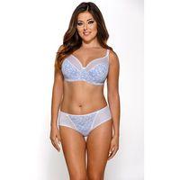Biustonosz na duże biusty koronkowy semi-soft ava 1524 light blue, Ava lingerie