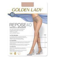 Rajstopy Golden Lady Repose 40 den 2-S, grafitowy/fumo, Golden Lady, kolor niebieski
