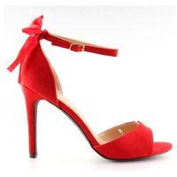 Sandałki na szpilce czerwone Z921-7SA-2 red, kolor czerwony
