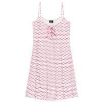 Koszula nocna na cienkich ramiączkach jasnoróżowo-różowy w kropki, Bonprix, L-XL
