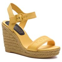 Tommy hilfiger Espadryle - colorful tommy wedge sandal fw0fw04160 spectra yellow 730