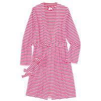 Szlafrok z dzianiny shirtowej różowo-jasnoróżowy marki Bonprix