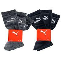 Skarpetki sportowe Puma (6 par) bonprix czarny + antracytowy