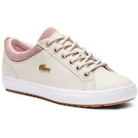 Lacoste Sneakersy - straightset insulate 3181 caw 7-36caw00427f8 nat/whty