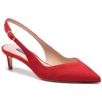Sandały STUART WEITZMAN - Edith ZL37401 Followme Red Suede
