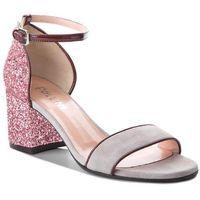 Sandały POLLINI - SA16146C05TA301A Cm.Pl/Pu Bo/Gl.Ci, kolor różowy