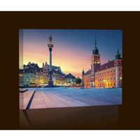Stare miasto Warszawa Obraz podświetlany LED