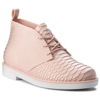 Botki MELISSA - Desert Boot Python + B 32366 Pink/White 52137, kolor różowy