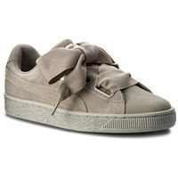 Sneakersy - suede heart pebble wn's 365210 02 rock ridge/rock ridge, Puma