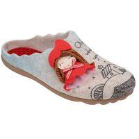 Kapcie pantofle domowe ciapy 320512-8 beżowe - beżowy ||popielaty ||czerwony ||multikolor marki Manitu