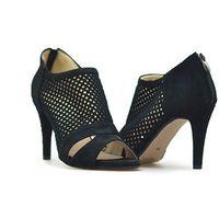 Sandały 1780/1 czarne zamsz, Mariaż