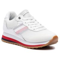Sneakersy TOMMY HILFIGER - Corporate Retro Sneaker FW0FW04022 White 100