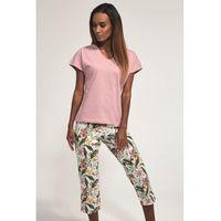 Bawełniana piżama damska Cornette 371/170 Vivian różowa